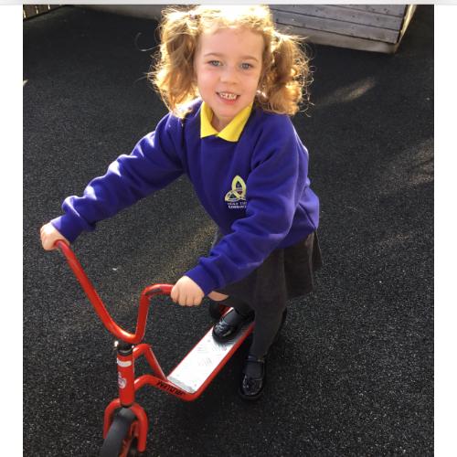 Mrs McCann's P1 Class: outdoor play.