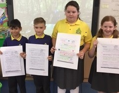 To celebrate National Poetry Day P6 pupils in Mrs Cathcart's class had fun doing a poetry workshop with Simon Mole. They had to create a poem about their Dream Day.