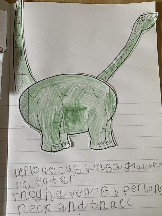 Dinosaur research in P2