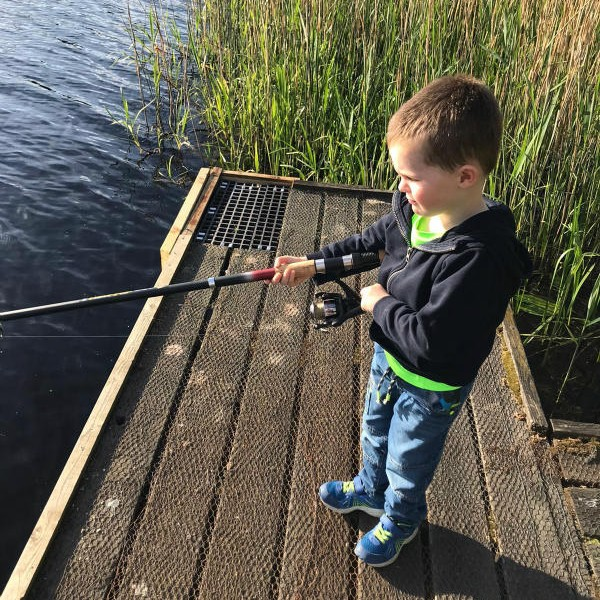 Caelan enjoying a little fishing