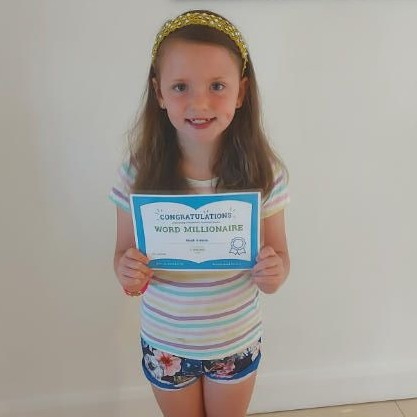 Congratulations to Cassie on becoming an AR Word Millionaire