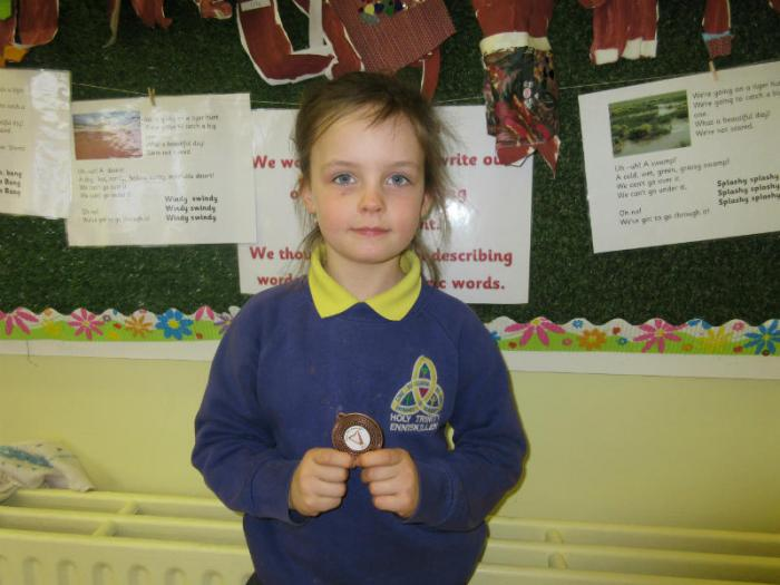 Lilly: 3rd in P2 Girls Vocal Solo
