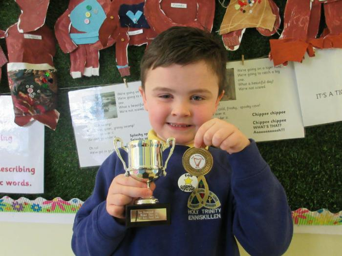 Cormac: 1st in P2 Boys Vocal Solo