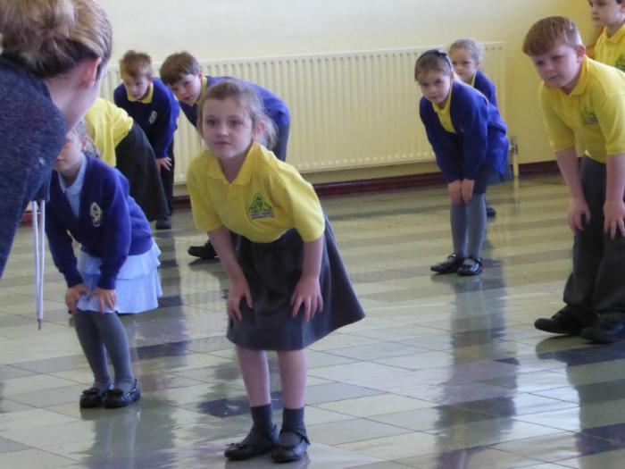 Shauneen shows some of our P3 classes a few new dance moves