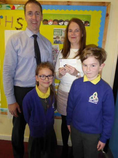 Holy Trinity Primary & Nursery school raises £500 for Tommy's charity