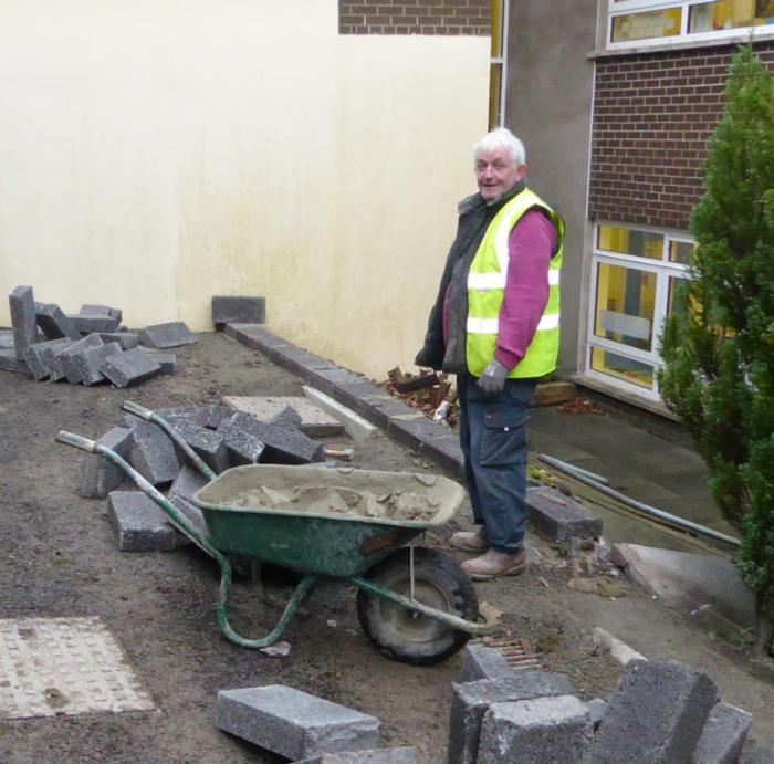 Alan working on our new P1 & P2 play area