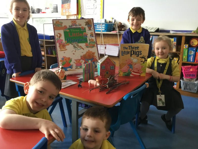 Mrs Colhoun's class enjoyed 'Story in a box' for World Book Day