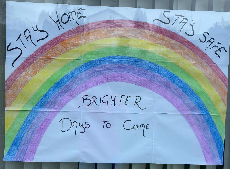 Thank you to Kayla, Saoirse and Tiernan for their beautiful rainbow and positive message