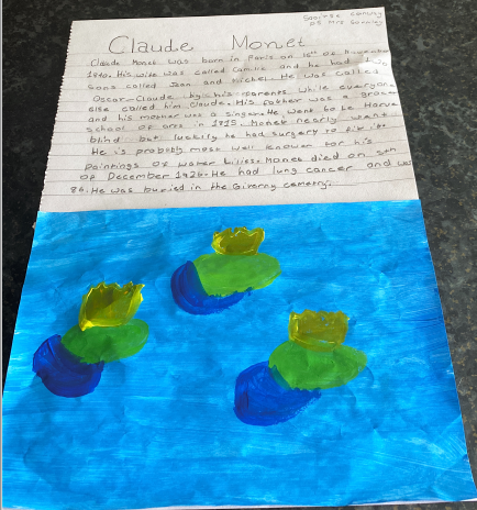Claude Monet by Saoirse Conway P5
