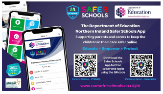 Safer Schools NI App is available on App Store and Play store