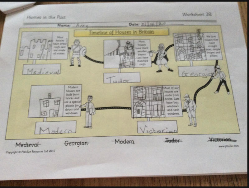 A timeline of houses - P4 work