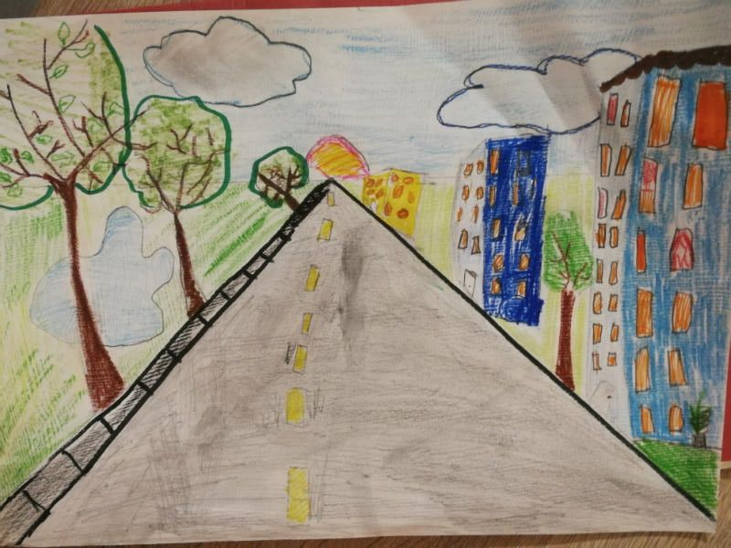 Perspective drawing by Anna from P4