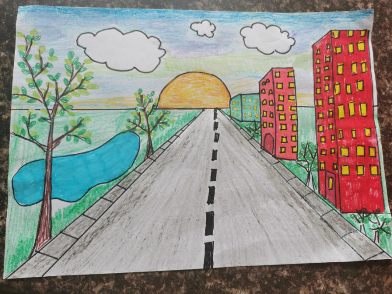 A beautiful Perspective drawing by Wiktoria in P4