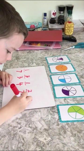 Oisin completes his maths homework