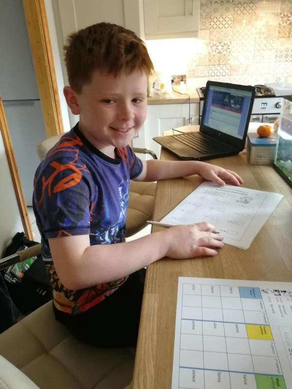 Jarlath doing his homework