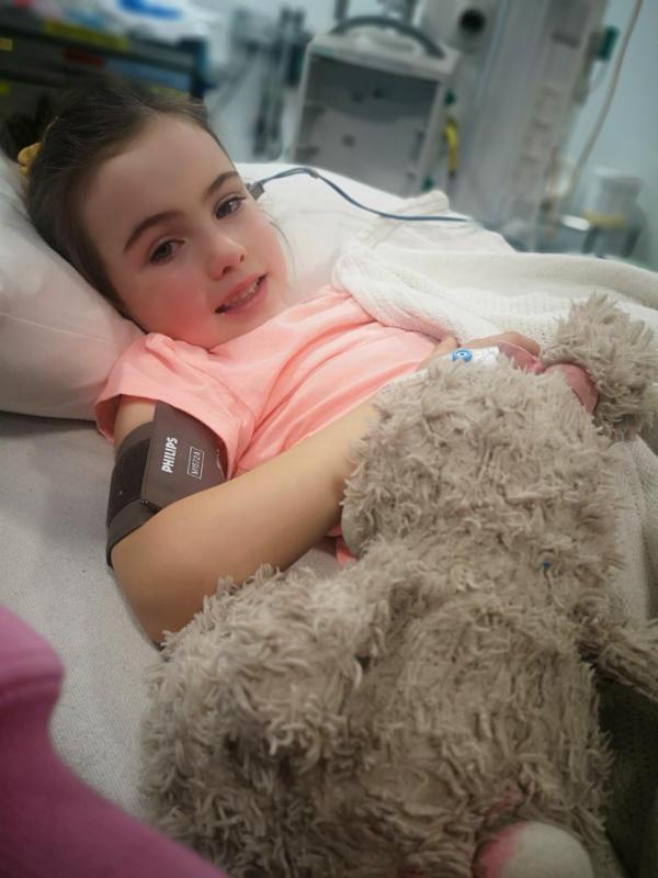 A very brave Georgia, wishing you a speedy recovery