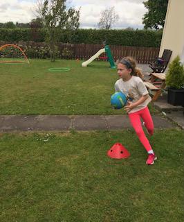 Football in the back garden