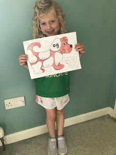 Fantastic colouring and letter sound work