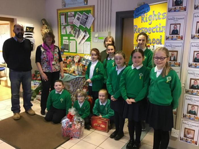 Reverend Owen Patterson from the  Fountain Food bank visited our school last week to collect of food donations. We would like to thank everyone for their generous contributions.