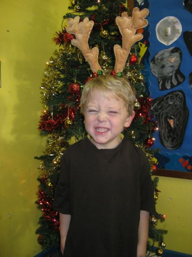 Kieron was a reindeer