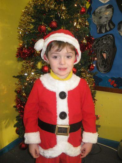 Reece was Santa