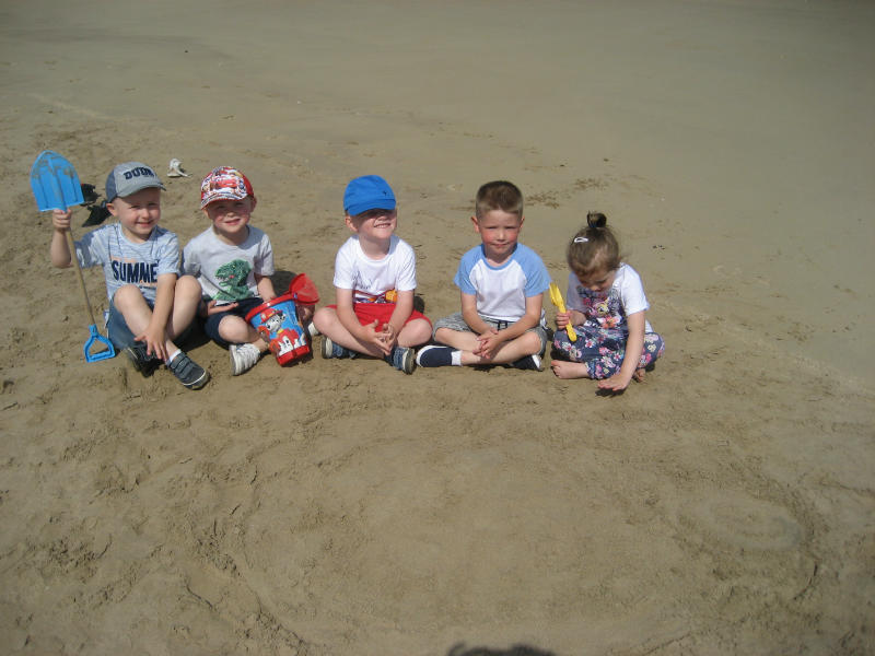 Everybody helped to make a Volcano!