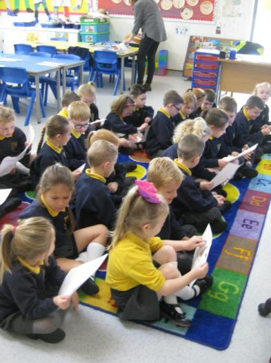 Busy reading all about our friends.