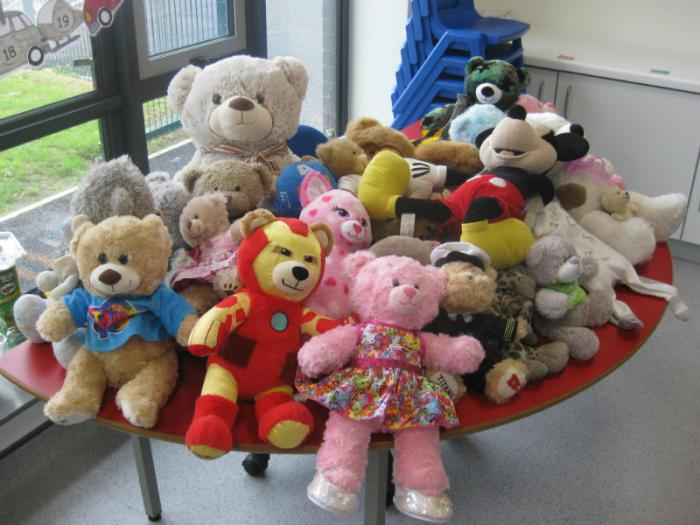 The Teddies had to wait patiently this morning.