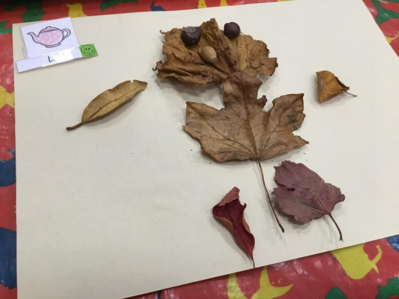 """""""A leaf man called Lily. He picks up leaves in the autumn time."""""""