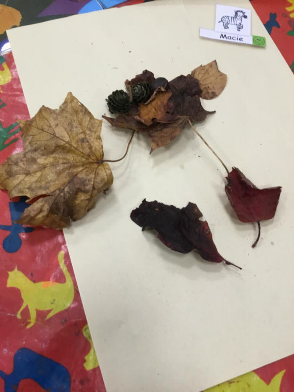 """""""A leaf man. He's got a nose and arms and legs and a mouth."""""""