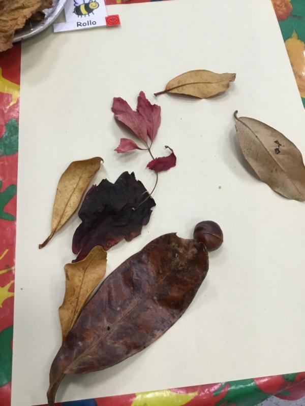 """""""I made a leaf man."""""""
