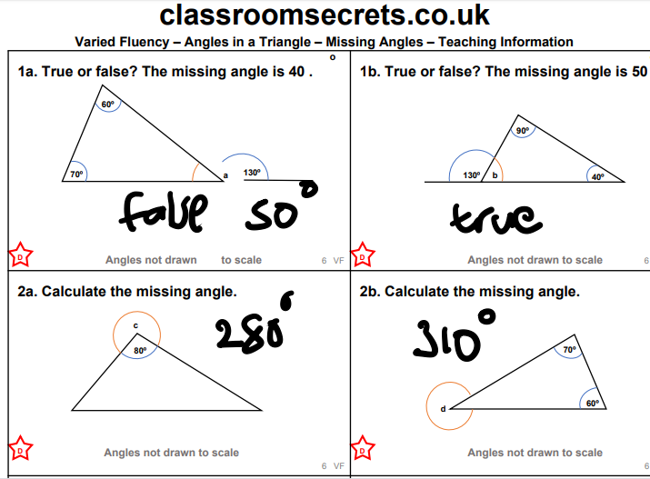 Finding the angels in a triangles!