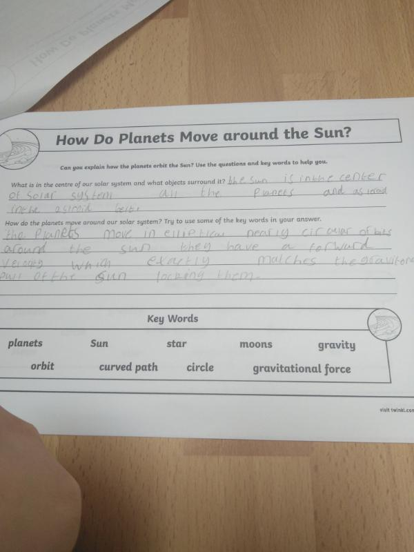 How do planets orbit the sun?