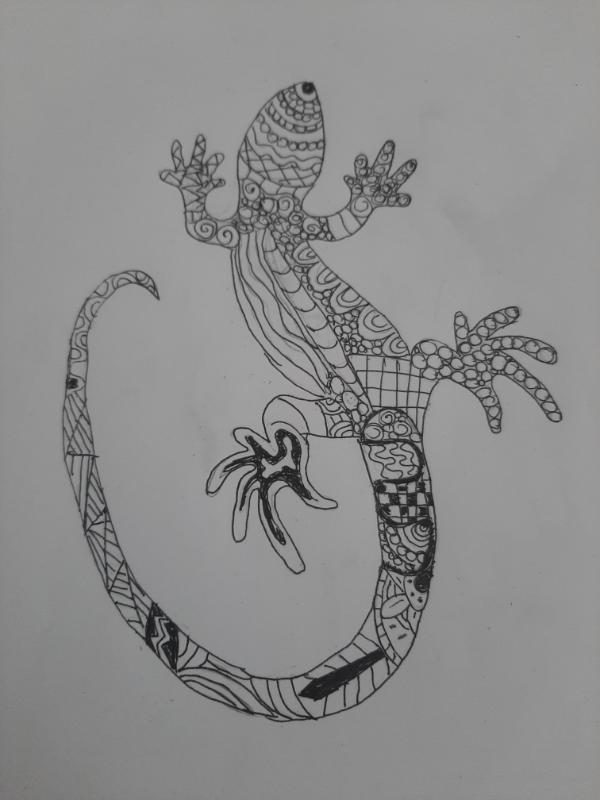 A zentangle lizard!