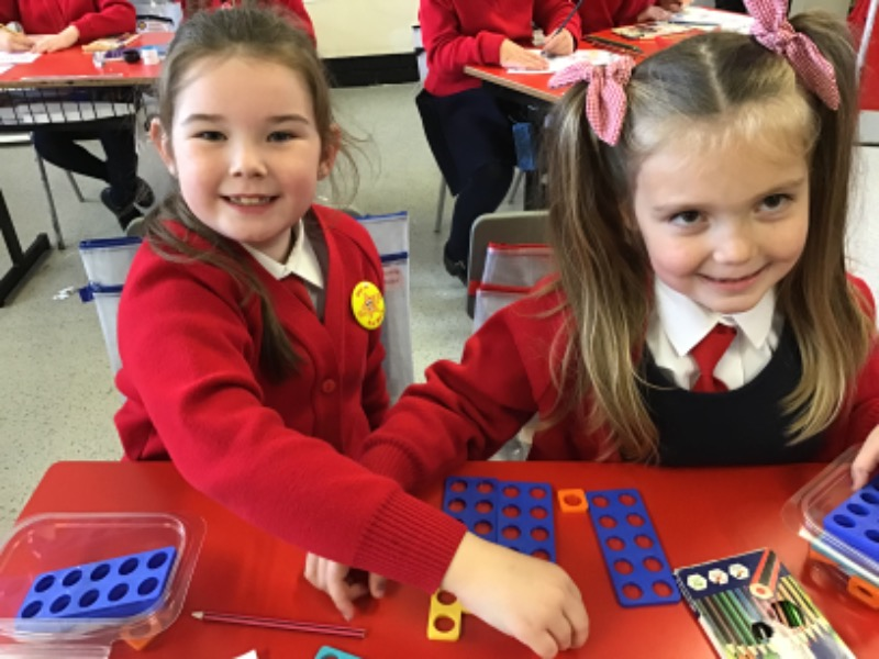 Mia Grace and Eirinn loving working together.