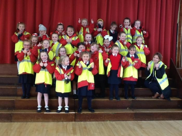 Captain Clean Up's Superhero team with Kirsten from Belfast City Council.