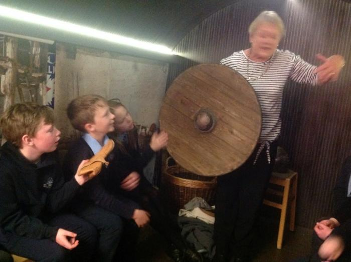 We loved seeing the Viking weapons!