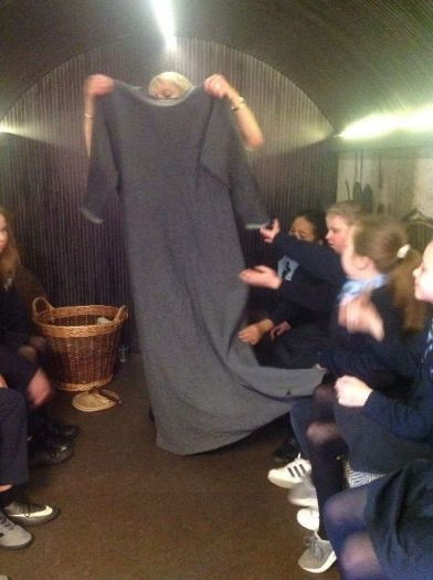 The Vikings were tall. Look at the length of the tunic!