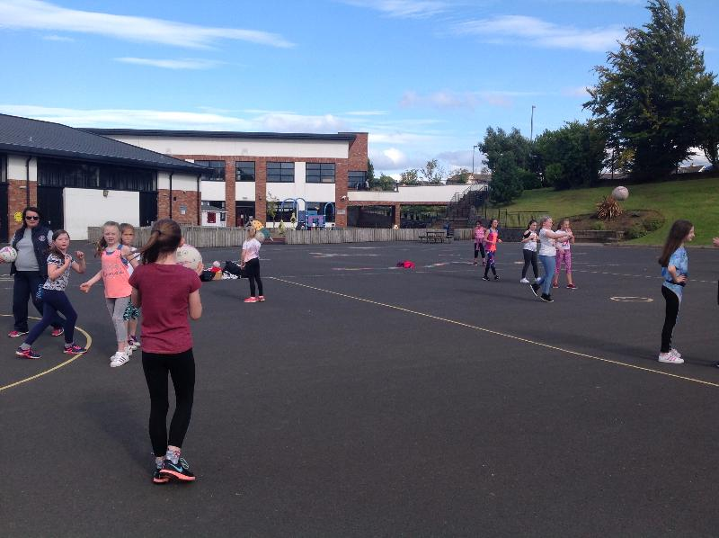 Tuesday - Netball club for P6 and P7 children