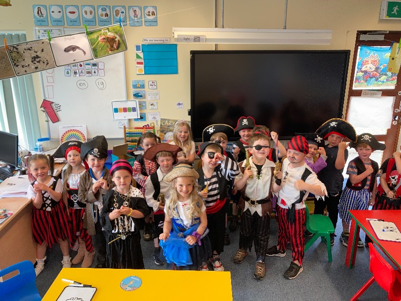 We all came to school dressed as pirates. Didn't we look fantastic?