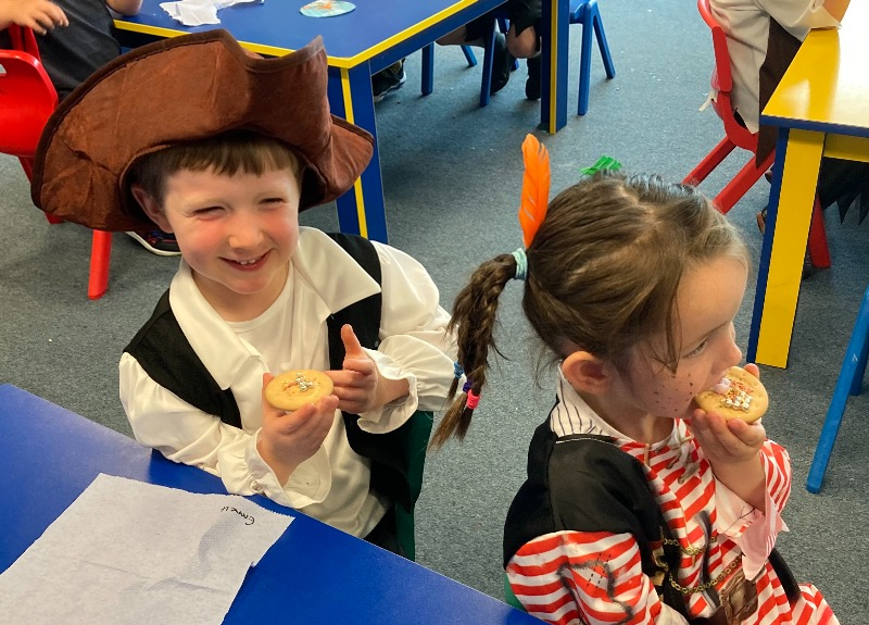 We loved our pirate biscuits.