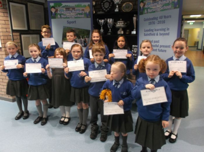 Academy Ace winners 14th October 2016