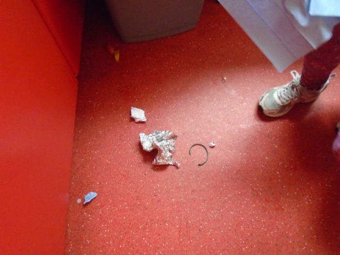 Lots of litter found beside the bin!!
