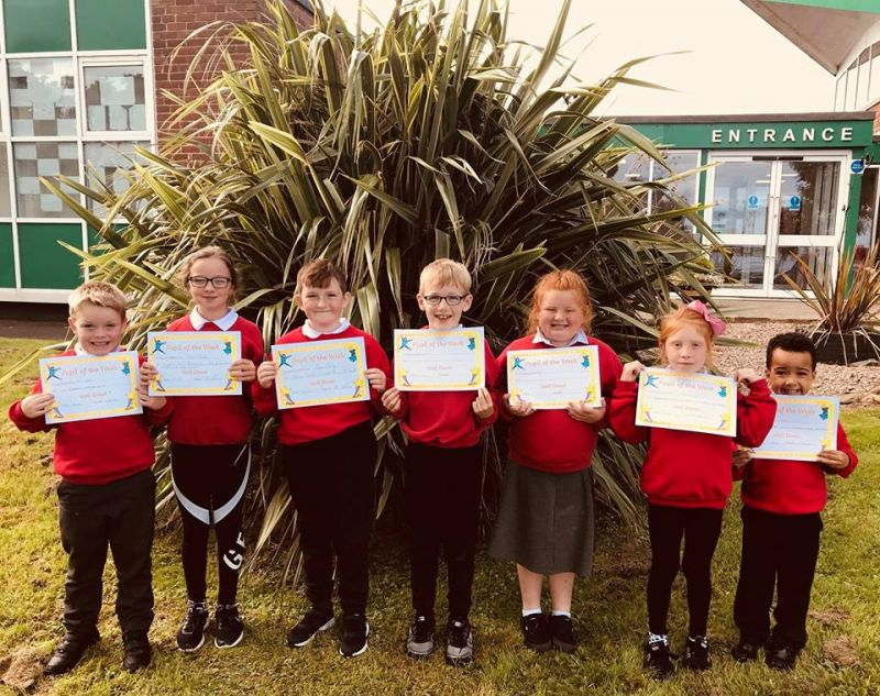 Our first Pupil of the Week recipients of the school year were delighted to get their certificates today. A great first week back for everyone in St Joseph's. Well done Shai, Leo, Jasmine, Fionn, Kieva, Ryan and Zara!