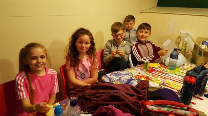 Chloe, Leah, Eoghan, Bobby and Gareth