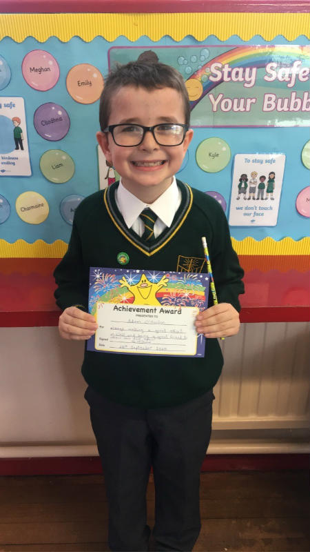 Adam, made a great effort in class and was a super friend to others. Well done, Adam!