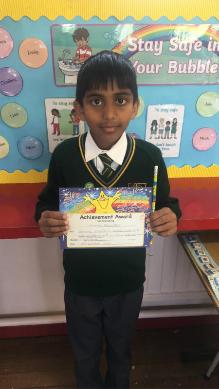 Shravan, has shown exceptional mental maths skills and always completes work to a very high standard.  Well done, Shravan!