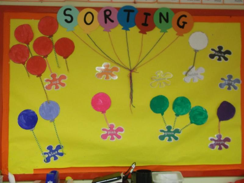 We painted and sorted our balloons by colour. Don't they look good.