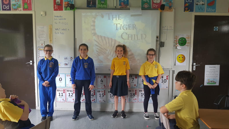 Ready to retell a folktale - The Tiger Child