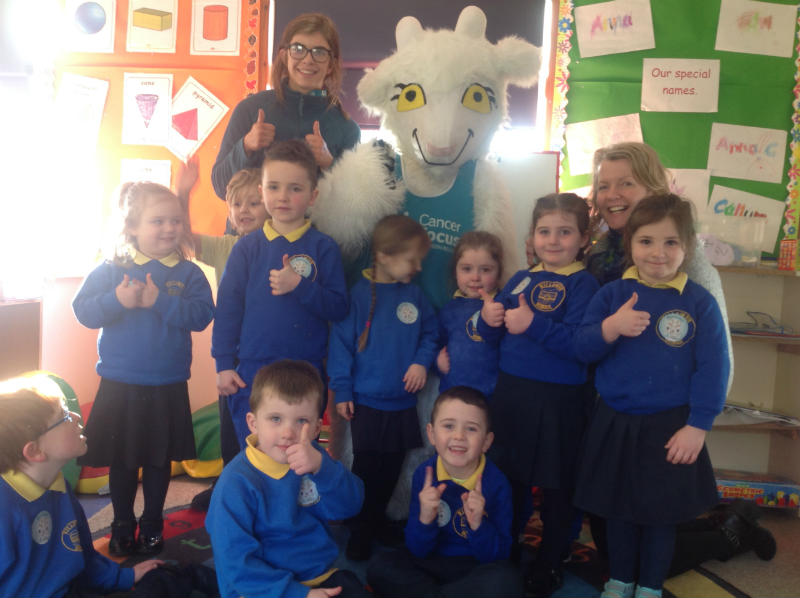 A visit from Genevieve the Goat to discuss healthy eating.